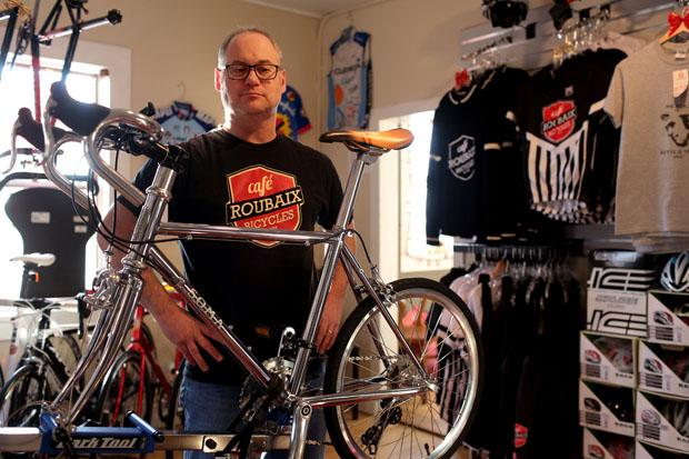 Dan Richter, pictured at his store Cafe Roubaix Bicycle Studio in Cochrane. Leah Hennel, Calgary Herald